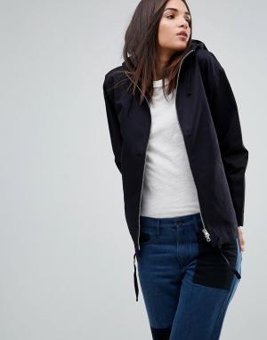 YMC Хлопковая куртка с капюшоном. Цвет: темно-синий