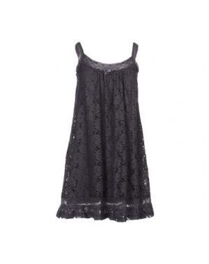 Короткое платье BY TI MO. Цвет: свинцово-серый