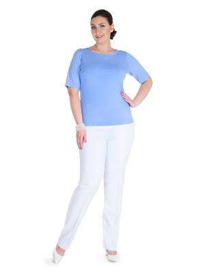 Блуза Darissa Fashion. Цвет: голубой