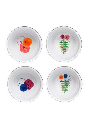 Блюда для запекания, 4 шт. Sagaform. Цвет: белый, черный, синий, зеленый