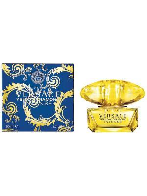 Туалетная вода Yellow Diamond Intense, 50 мл Versace. Цвет: желтый, синий