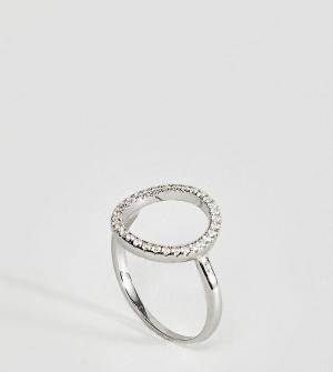 Kingsley Ryan Серебряное кольцо с вырезом и отделкой камнями. Цвет: серебряный