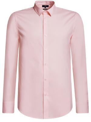 Рубашка Oodji. Цвет: розовый