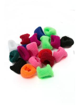 Резинка для волос маленькие 80 шт. в упаковке разноцветные JD.ZARZIS. Цвет: белый, зеленый, фиолетовый, красный, розовый, желтый