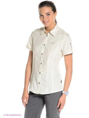 Рубашка BEYOND SHIRT W Jack Wolfskin. Цвет: молочный