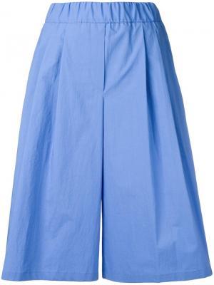 Плиссированные шорты Odeeh. Цвет: синий