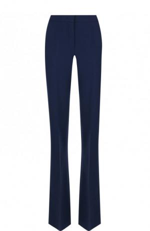 Расклешенные шерстяные брюки со стрелками Emilio Pucci. Цвет: темно-синий