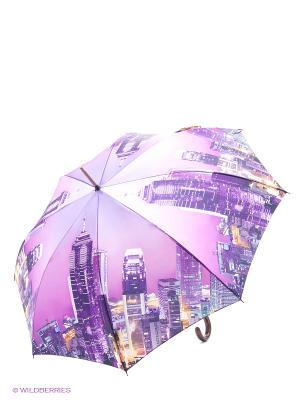 Зонт трость RAINDROPS. Цвет: фиолетовый