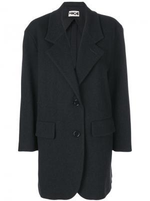 Однобортное пальто Hache. Цвет: серый