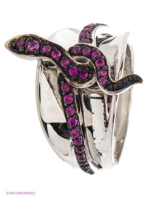 Кольцо JV ДЖЕЙ ВИ. Цвет: серебристый, фиолетовый