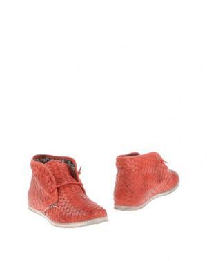 Полусапоги и высокие ботинки YAB. Цвет: красный