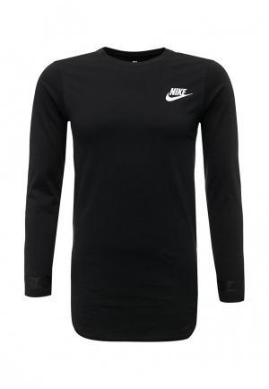 Лонгслив Nike. Цвет: черный
