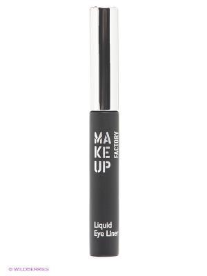 Подводка для глаз, т01 черный Make up factory. Цвет: черный