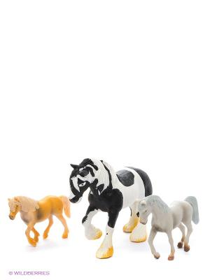 Игровой набор Лошади Happy Kin. Цвет: белый, черный, рыжий