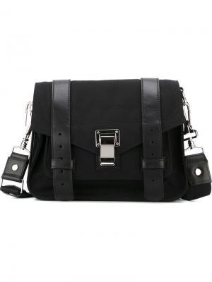Мини сумка-сэтчел PS1 Proenza Schouler. Цвет: чёрный