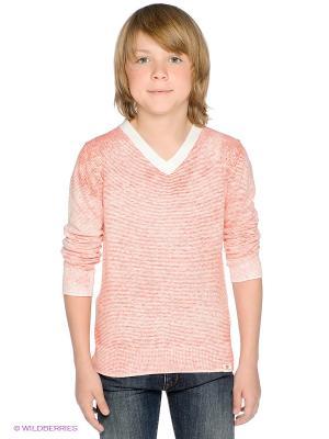 Пуловер American Outfitters. Цвет: оранжевый, белый