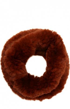 Шарф-хомут из меха кролика Yves Salomon. Цвет: бордовый