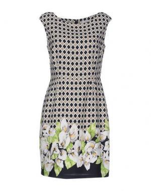 Короткое платье ANONYME DESIGNERS. Цвет: голубиный серый