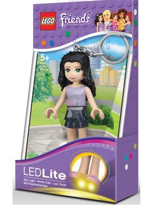 Брелок-фонарик для ключей LEGO FRIENDS - Emma. Цвет: черный, светло-серый, бежевый