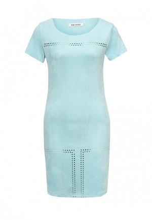 Платье SHK Mode. Цвет: голубой