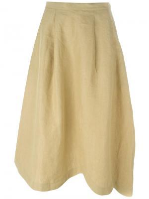 Асимметричная юбка Société Anonyme. Цвет: телесный