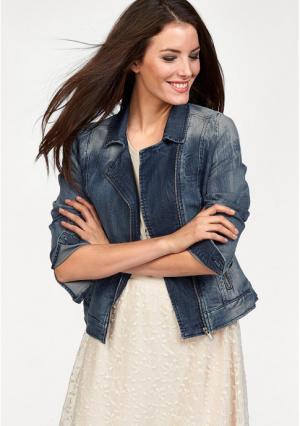 Джинсовая куртка Aniston. Цвет: синий