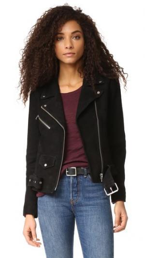 Классическая замшевая куртка Jayne VEDA. Цвет: голубой