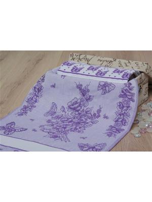 Набор кухонных полотенец БАБОЧКИ цв. фиолетовый 40х60 (2шт.) TOALLA. Цвет: фиолетовый