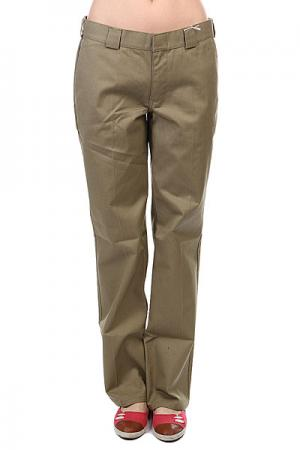 Штаны женские  Girls Work Pant Tumble Weed Dickies. Цвет: коричневый