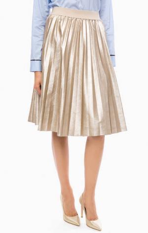 Плиссированная юбка золотистого цвета Kocca. Цвет: золотистый