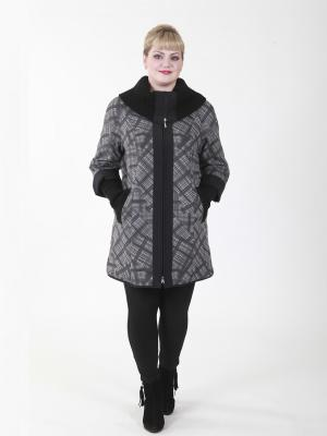 Пальто Элизабет VIKO. Цвет: серый, черный