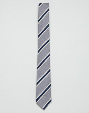 Jack & Jones Серый галстук в полоску. Цвет: серый