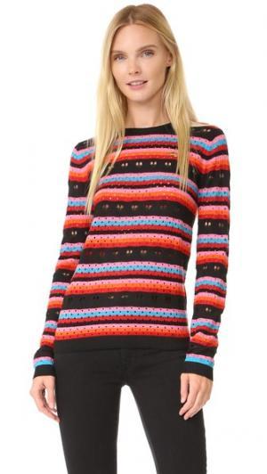 Кружевной свитер Rainbow Love Bella Freud. Цвет: радуга