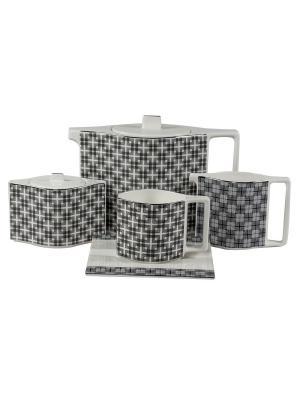 Сервиз чайный 17 предм. на 6 персон Стелла Луна Royal Porcelain. Цвет: молочный