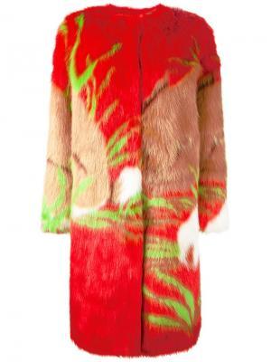 Пальто Ecologica Marco De Vincenzo. Цвет: красный