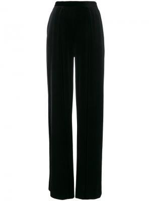 Широкие брюки Talbot Runhof. Цвет: чёрный
