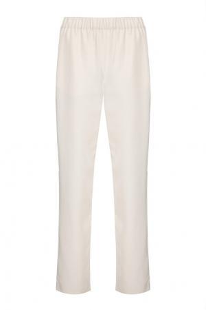 Однотонные брюки Akhmadullina DREAMS. Цвет: бежевый