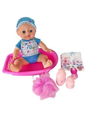 Пупс  с ванной, 35 см Lisa Jane. Цвет: синий, розовый