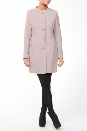 Пальто ELEGANT LADY. Цвет: бежевый