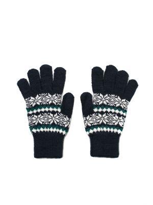 Перчатки PERCH3-SNOW-DBLU Mitya Veselkov. Цвет: темно-синий