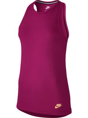 Майка спортивная W NSW ESSNTL TANK LBR Nike. Цвет: фиолетовый