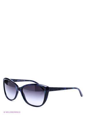 Очки солнцезащитные Versace. Цвет: синий, черный