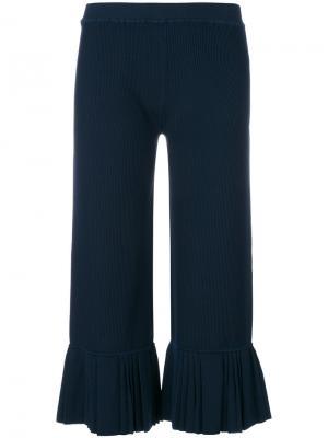 Укороченные брюки с плиссировками 3.1 Phillip Lim. Цвет: синий