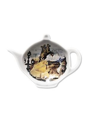 Блюдце для чайных пакетиков Gift'n'Home. Цвет: белый, черный, серый, коричневый, светло-коричневый, кремовый