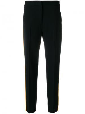 Укороченные брюки с полосками по бокам MSGM. Цвет: чёрный