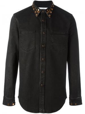 Джинсовая рубашка с заклепками на воротнике Givenchy. Цвет: чёрный