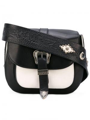 Миниатюрная сумка-сэтчел Rough Rock Htc Hollywood Trading Company. Цвет: чёрный