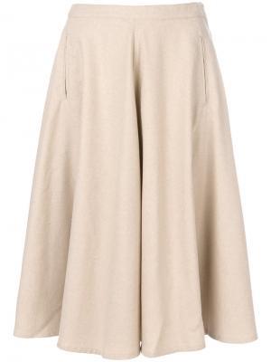 Flared midi skirt Bellerose. Цвет: телесный