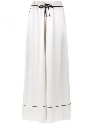 Пижамные брюки с завышенной талией Off-White. Цвет: белый