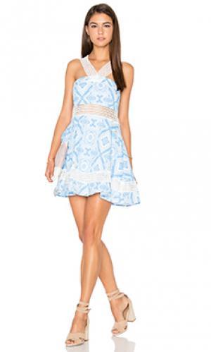 Платье Lucca Couture. Цвет: синий